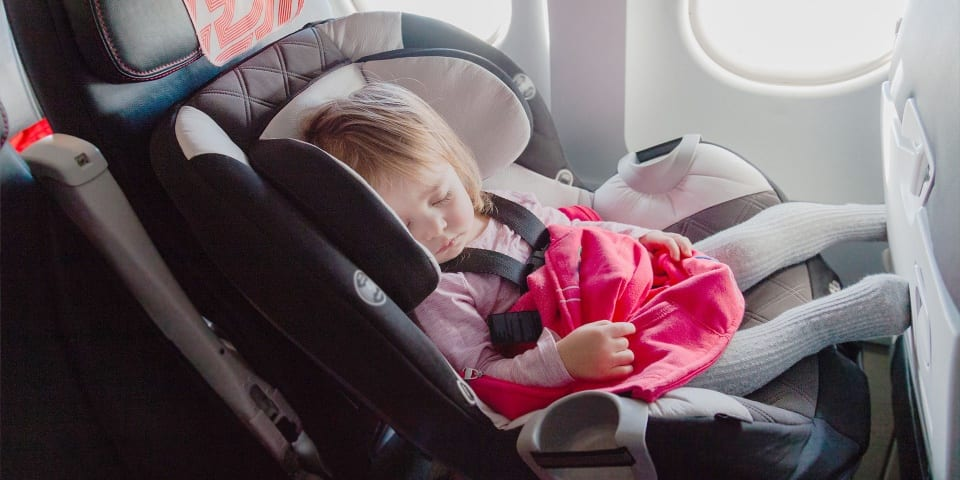 Child car seats on planes: five things you need to know before you fly