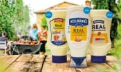 Lidl Batts Real Mayonnaise, Hellmann's Real Mayonnaise, Aldi Bramwells Real mayonnaise