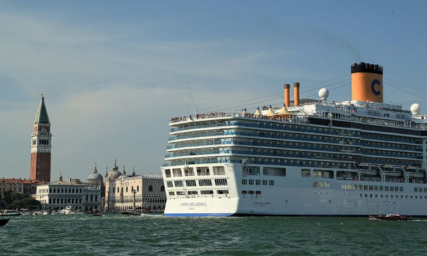 The Costa Deliziosa in Venice