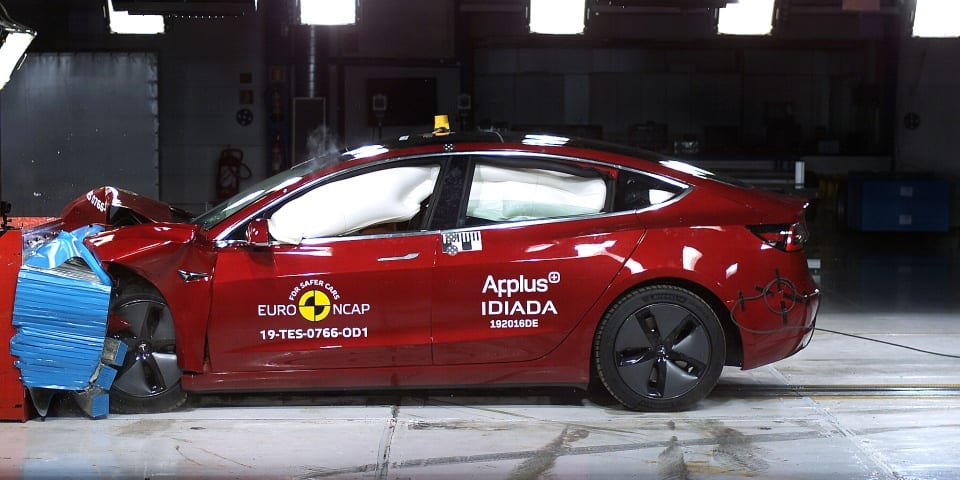 Tesla Model 3 gets perfect score in crash test