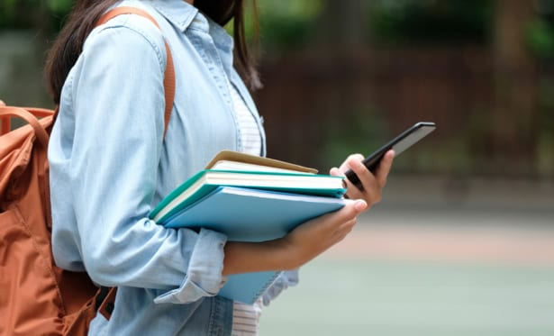 Student costs can include books and tech such as laptops or phones