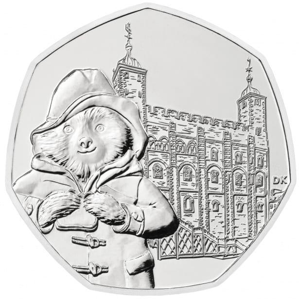 Paddington bear 50p coin