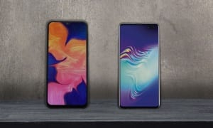 Samsung Galaxy A10 vs S10 5G: two smartphones £1,000 apart