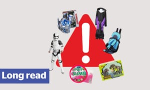 Dangerous toys and killer car seats listed for sale at online marketplaces like Amazon and eBay