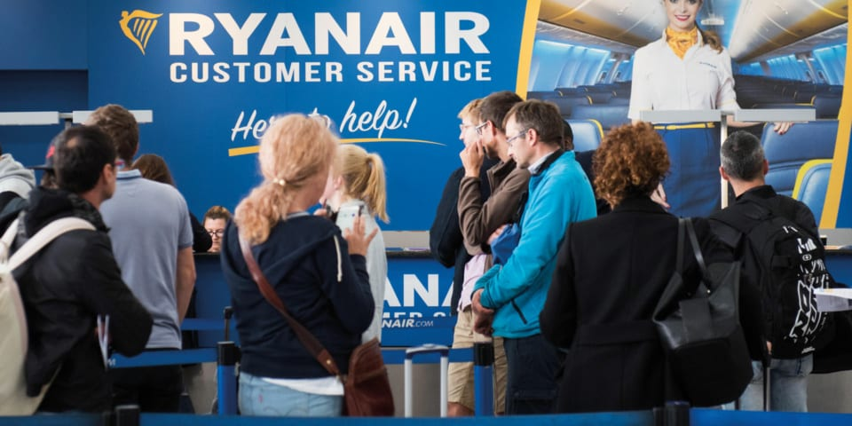 Passengers rate Ryanair worst airline, with British Airways not far behind