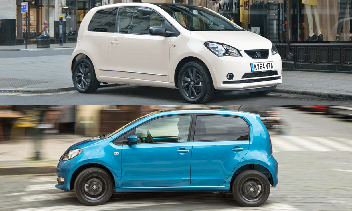 The SEAT Mii and Skoda Citigo