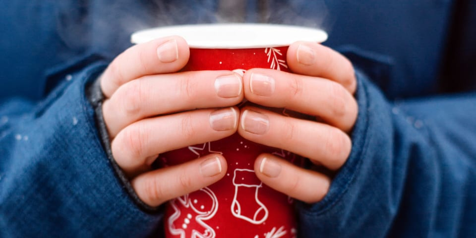 Christmas coffee with as much sugar as a Cadbury Crunchie bar