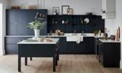 Blue shaker-style kitchen