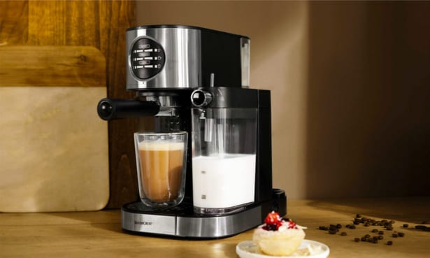 Lidl Silvercrest ground coffee machine with automatic milk frother