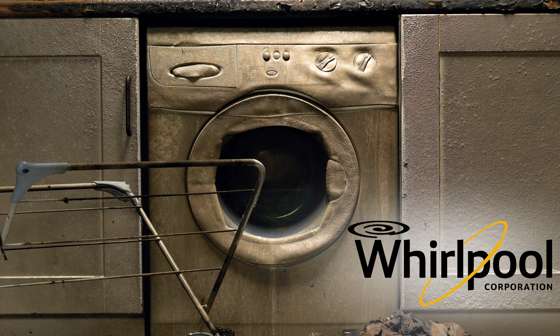 A defunct washing machine