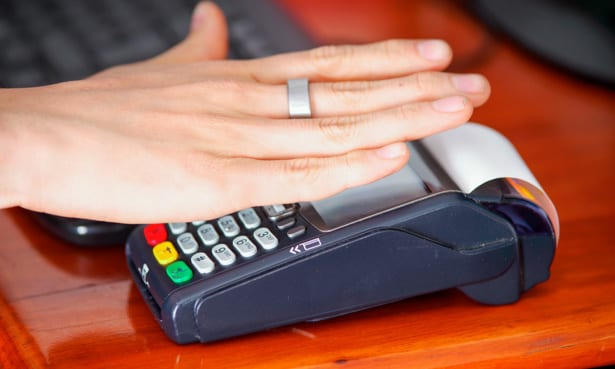 Paying with a contactless ring