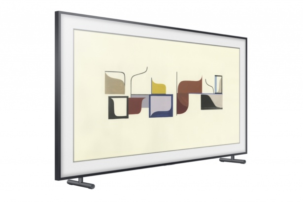 Samsung Frame TV on stand