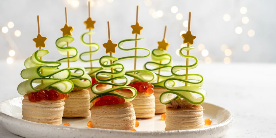 14 recommended canapés for Christmas parties 2019