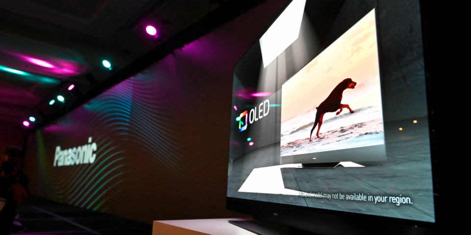 Panasonic HZ2000 OLED TV on display at CES 2020