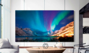 Samsung Q950TS TV on wall