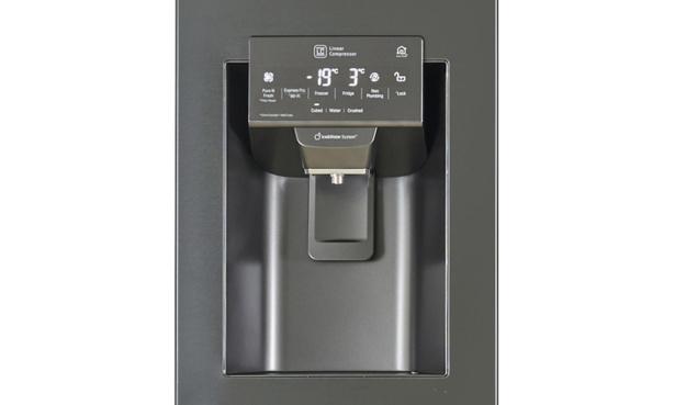 Water dispenser on fridge freezer