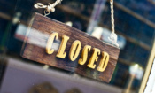 A 'closed' shop sign