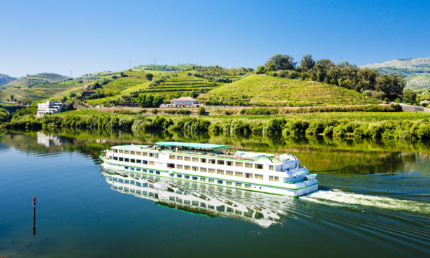 river cruise ship on a river