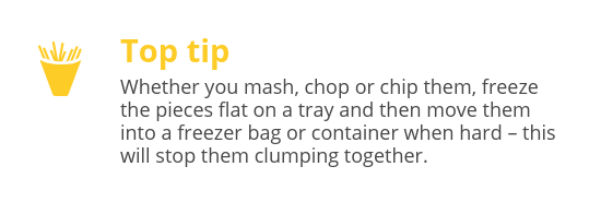 Tips on freezing potato