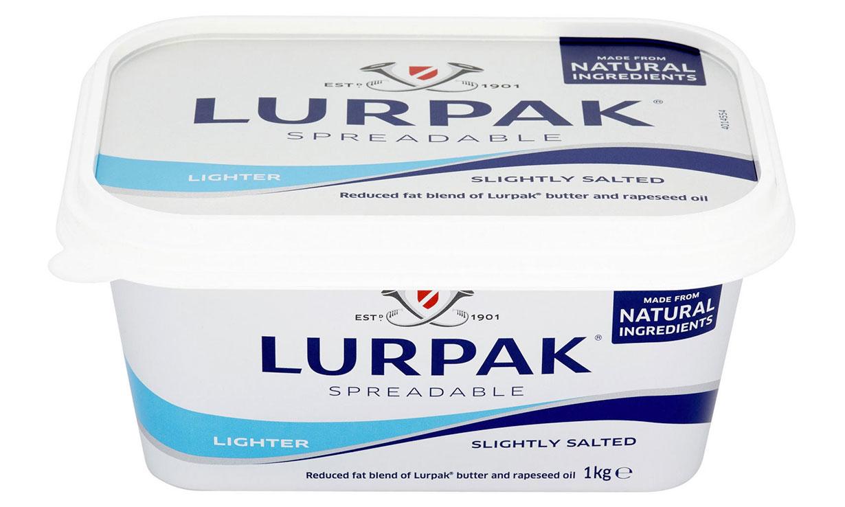 Lurpak spreadable lighter butter pack