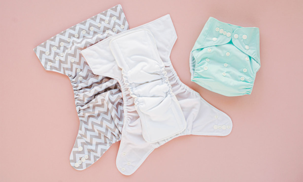 unfolded reusable nappy