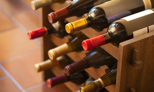 storing wines on their sides