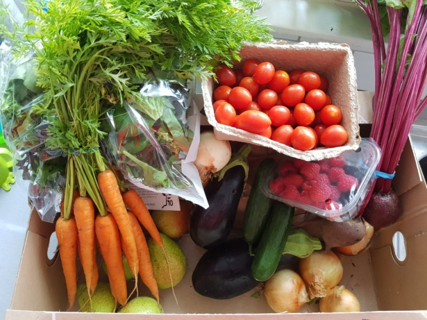 Riverford box of fruit and vegetables