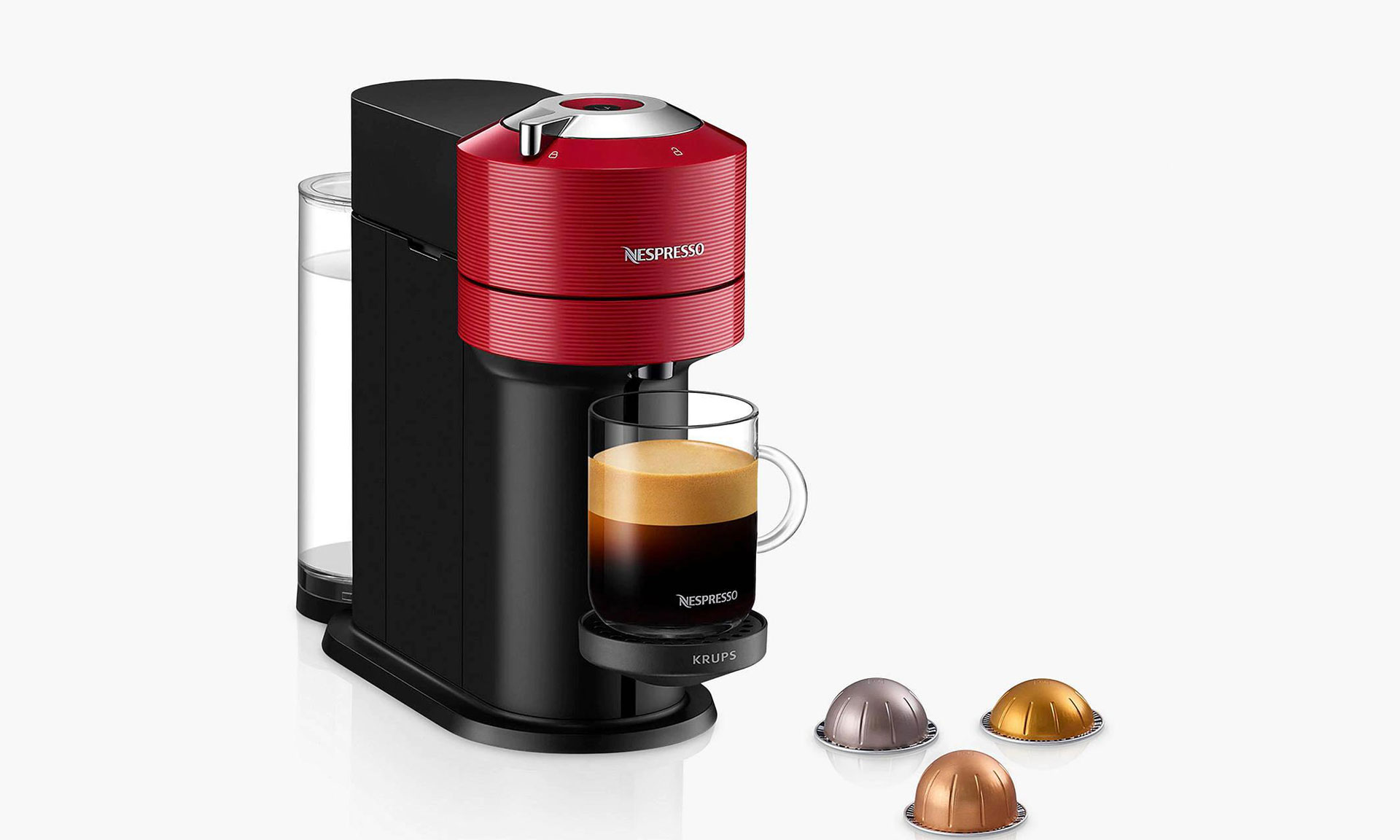 Nespresso Vertuo Next coffee machine with capsules