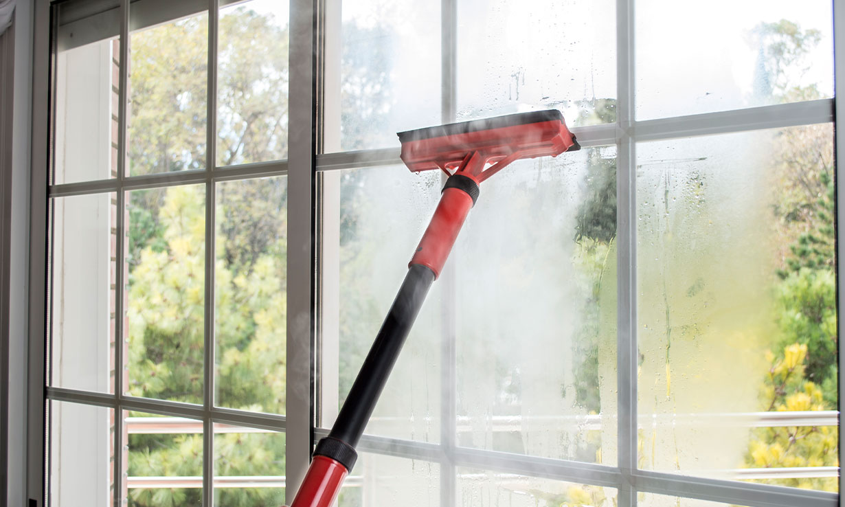 Steam cleaning windows