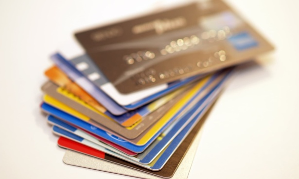 credit cards on table