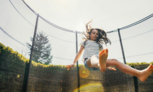 What's the most common injury children have on a trampoline?