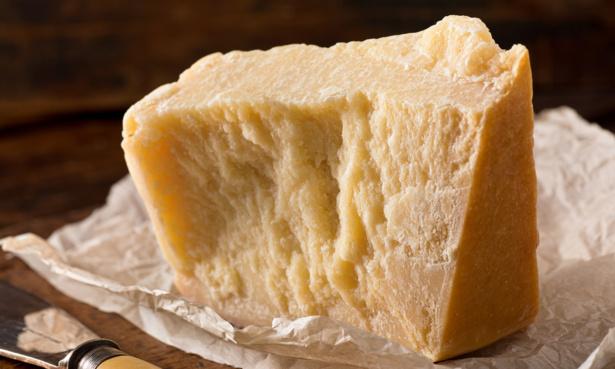 Block of parmesan cheese