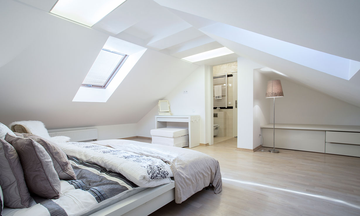 loft conversion with skylights
