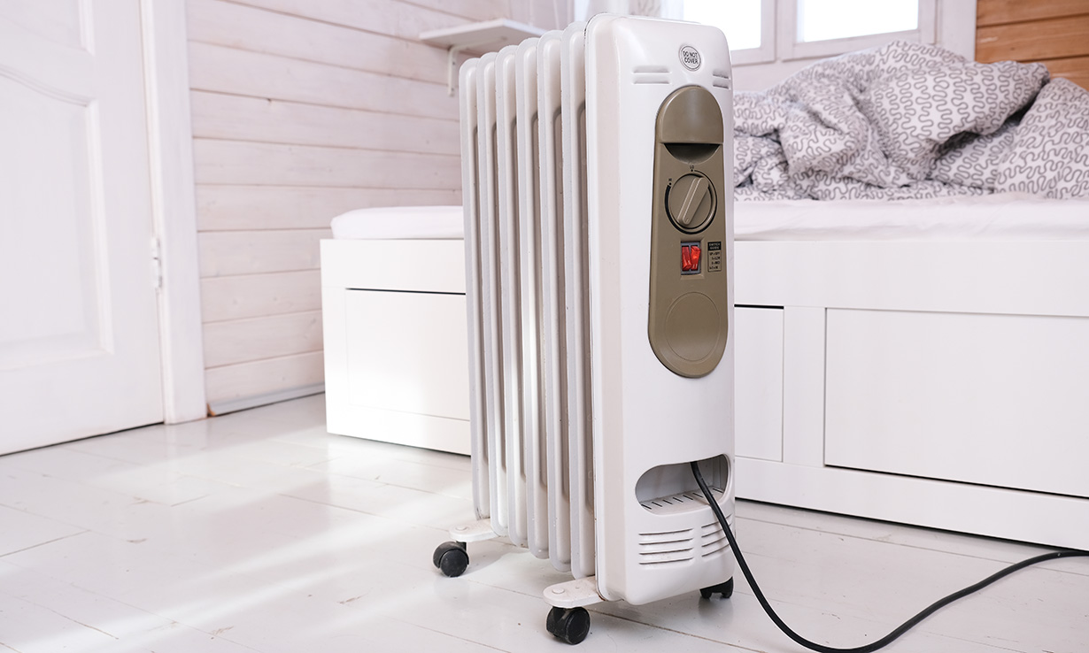 Oil-filled heater