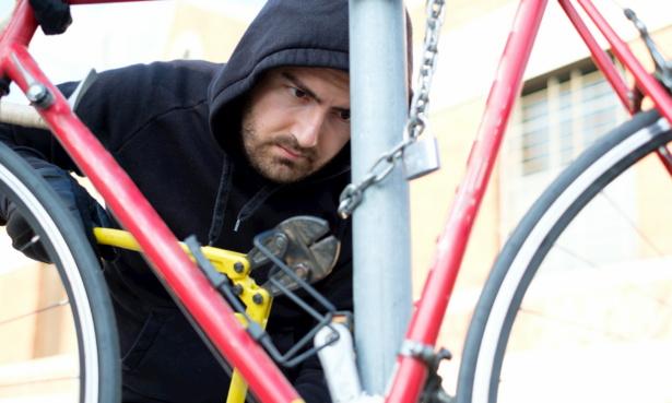 man stealing bike