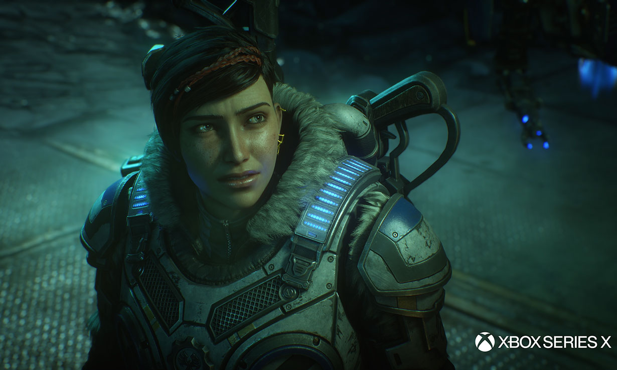 Gameplay from Gears 5, optimised for the Xbox Series X