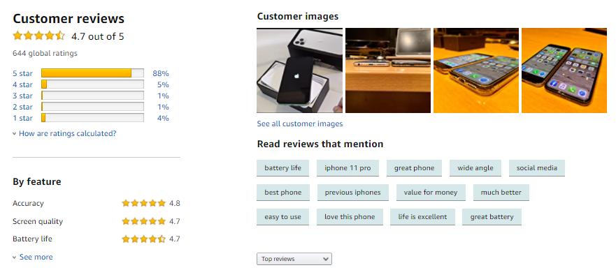 Black Friday - Amazon customer reviews