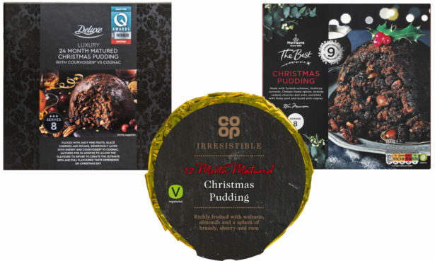 Lidl, Morrisons and Co-op Christmas puddings
