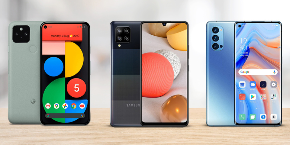 5G phones on test: Google Pixel 5, Samsung A42 and Oppo Reno 4 Pro