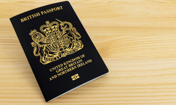 New blue British passport