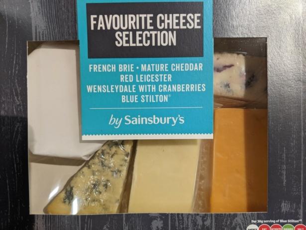 Sainsburys cheeseboard package
