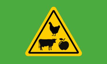 yellow farming logo on green backgreen