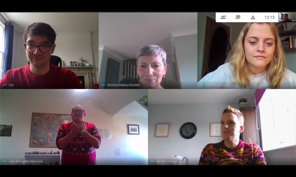Which? staff playing Charades together on Google Hangouts