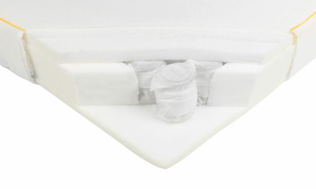 Eve The Cot Mattress 2020 foam pocket sprung cutaway