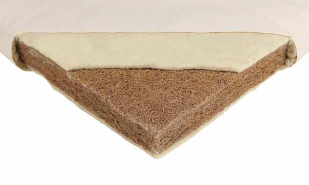 Mokee natural cot bed mattress coconut latex inside view