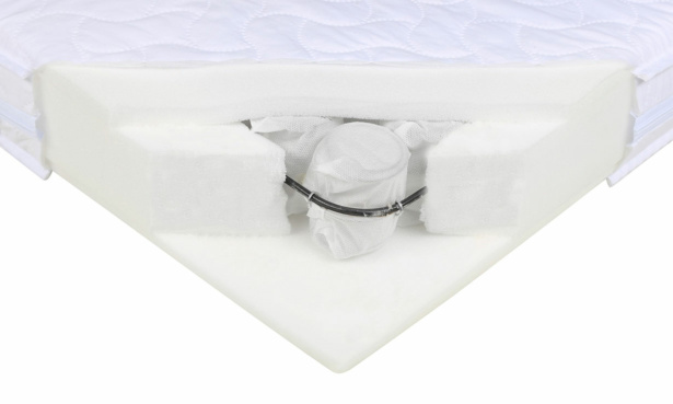 O Babyltd Pocket Sprung Cot bed mattress cutaway