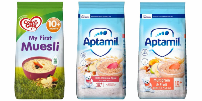 Product recall: Aptamil Muesli products may contain choking hazard