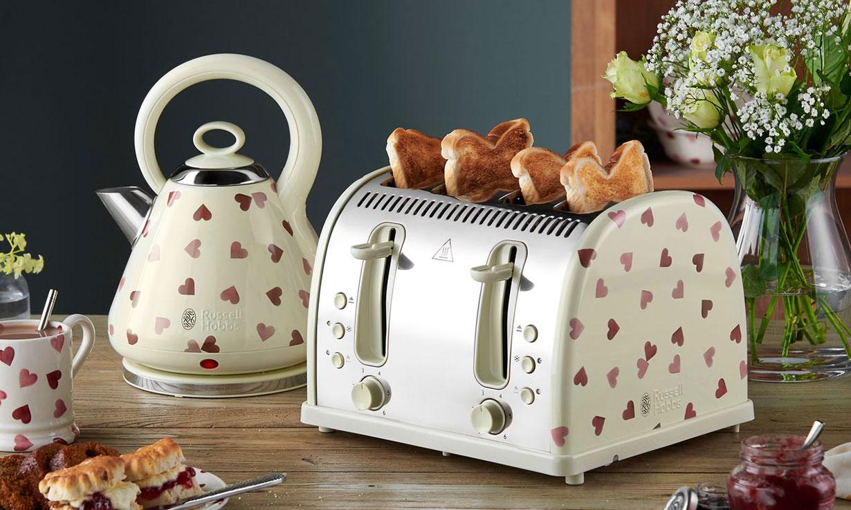 Russell Hobbs x Emma Bridgewater kettle and toaster