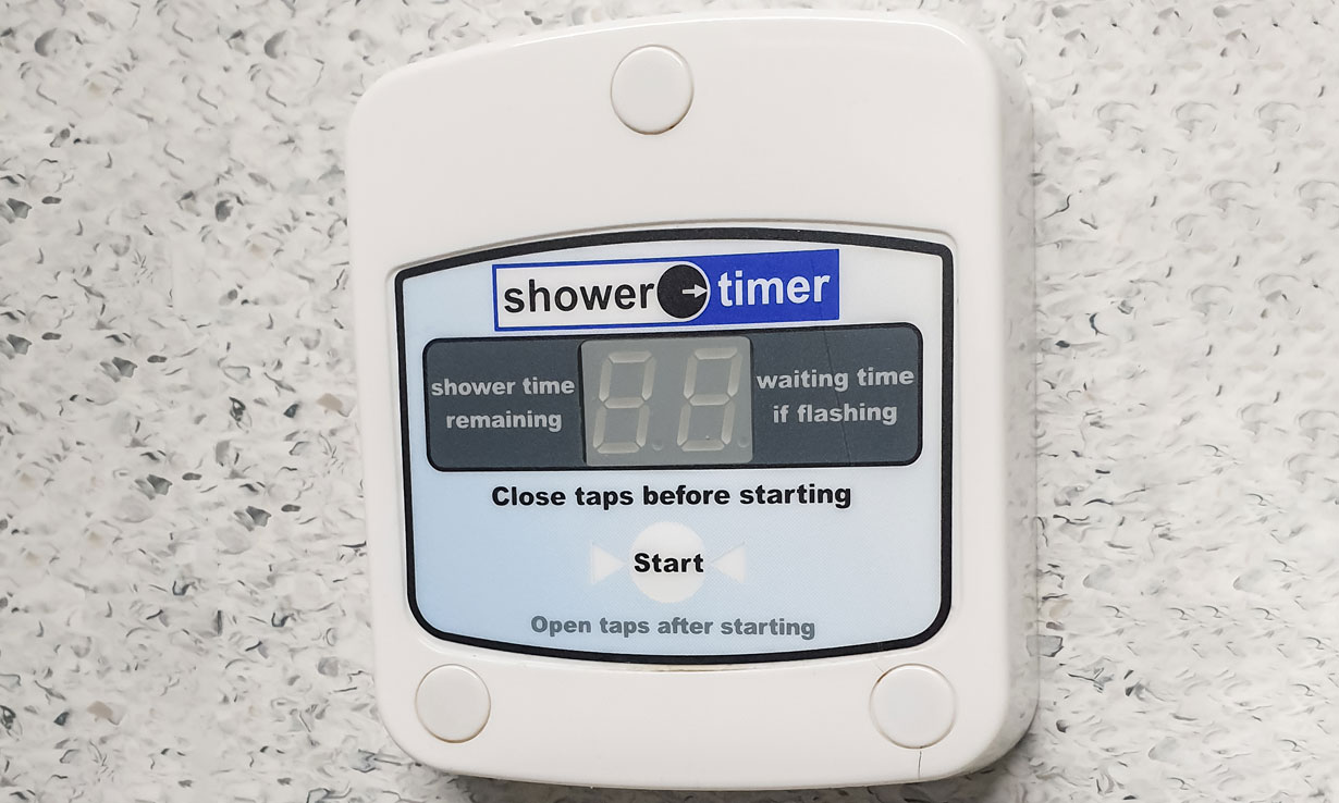 Electronic shower timer
