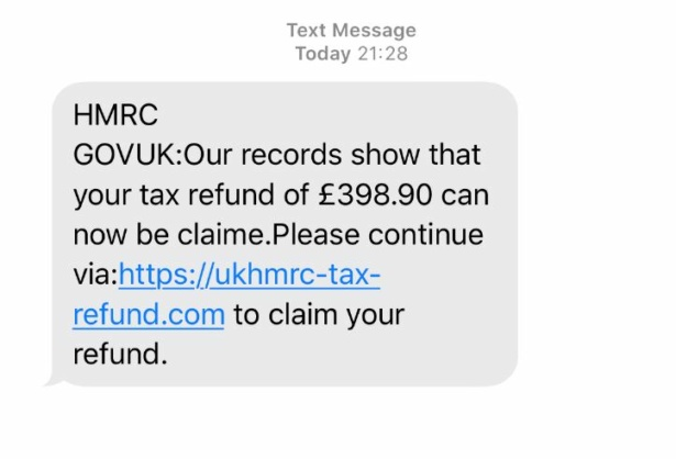 scam hmrc text